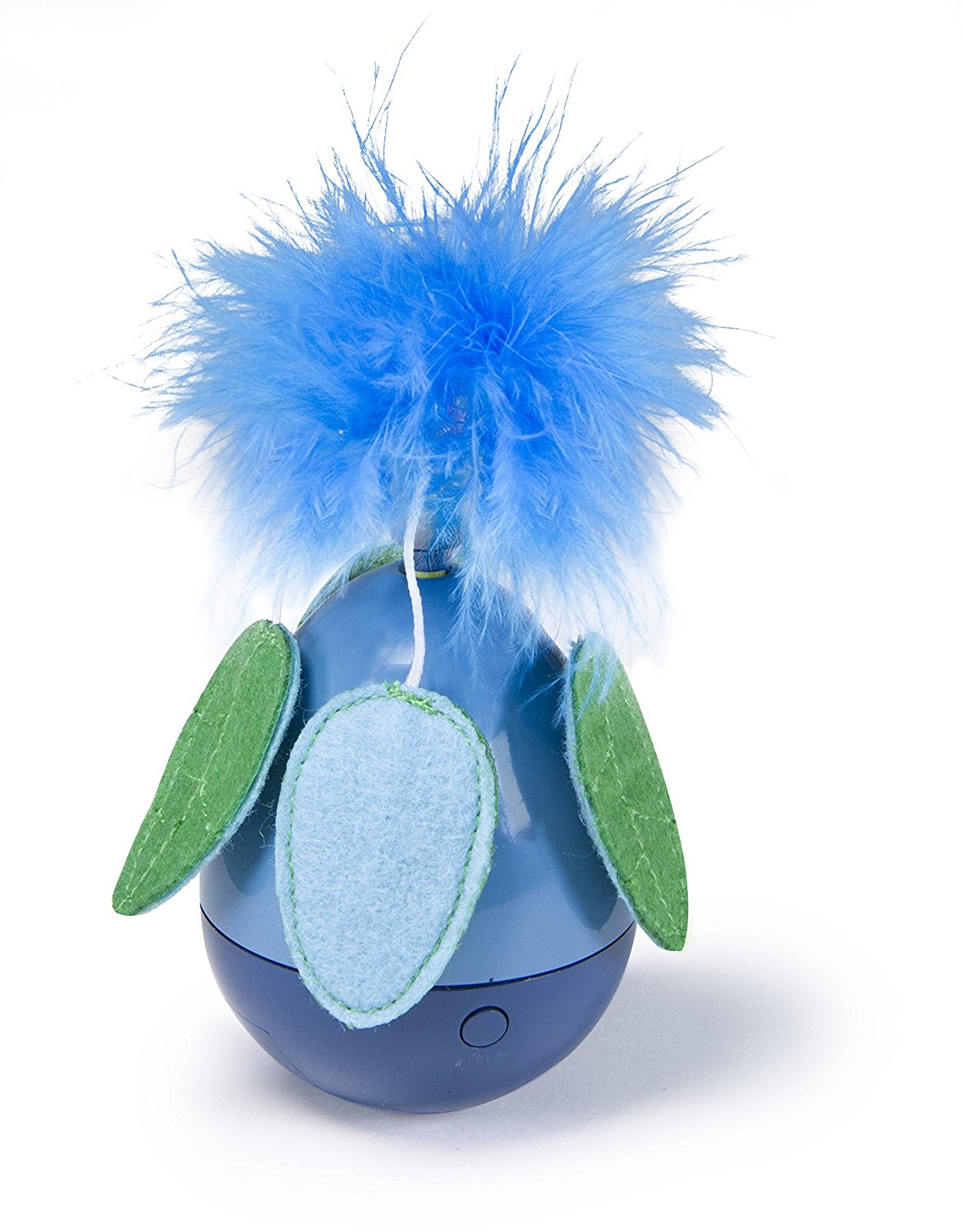Dizzy Thing Spinning Cat Toy, Blue, Spinning feathery toy captivates cats with erratic, unpredictable... by