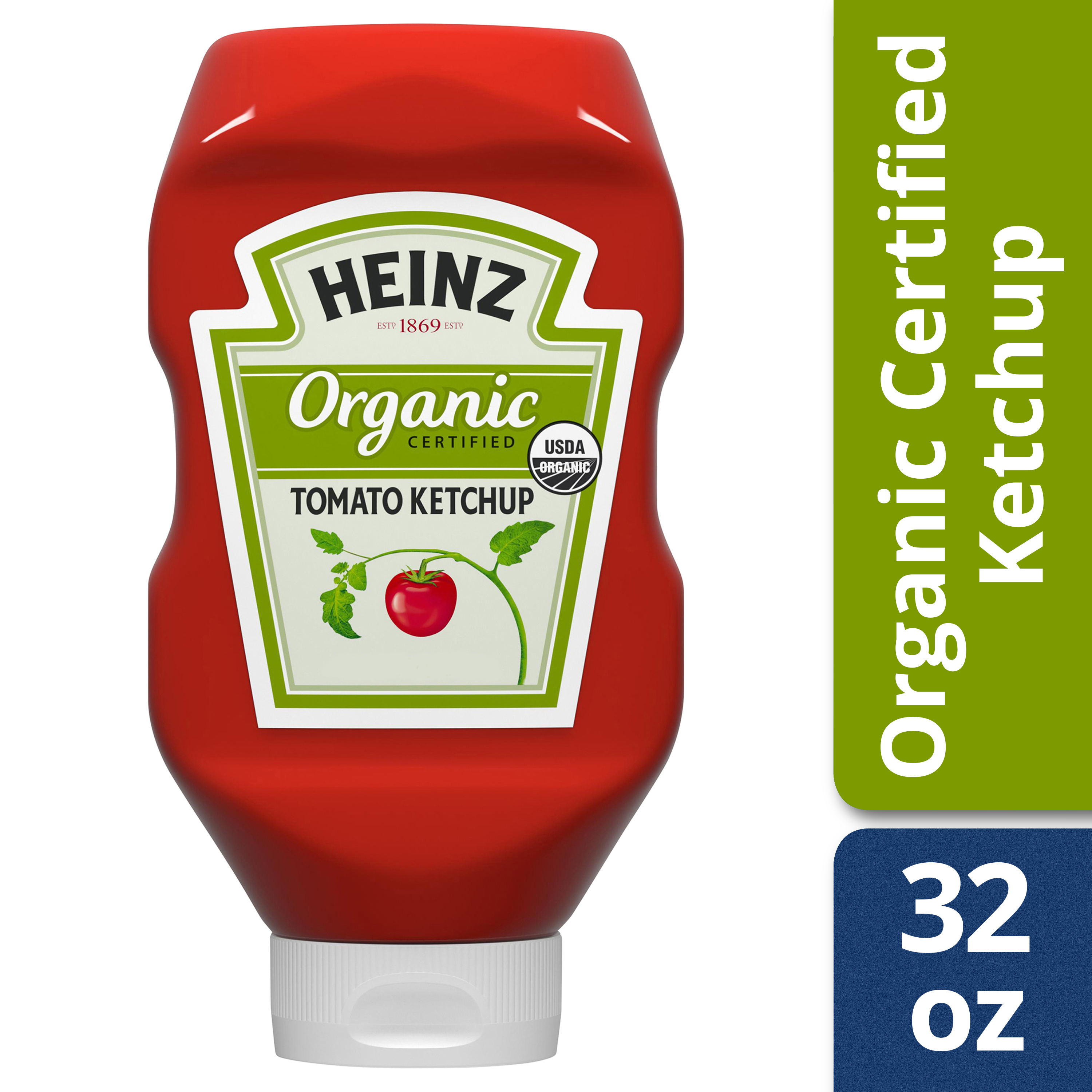 Heinz Organic Certified Tomato Ketchup 32 oz. Bottle
