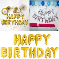product image gold silver happy birthday foil balloons 16 happy birthday banner letters balloons for