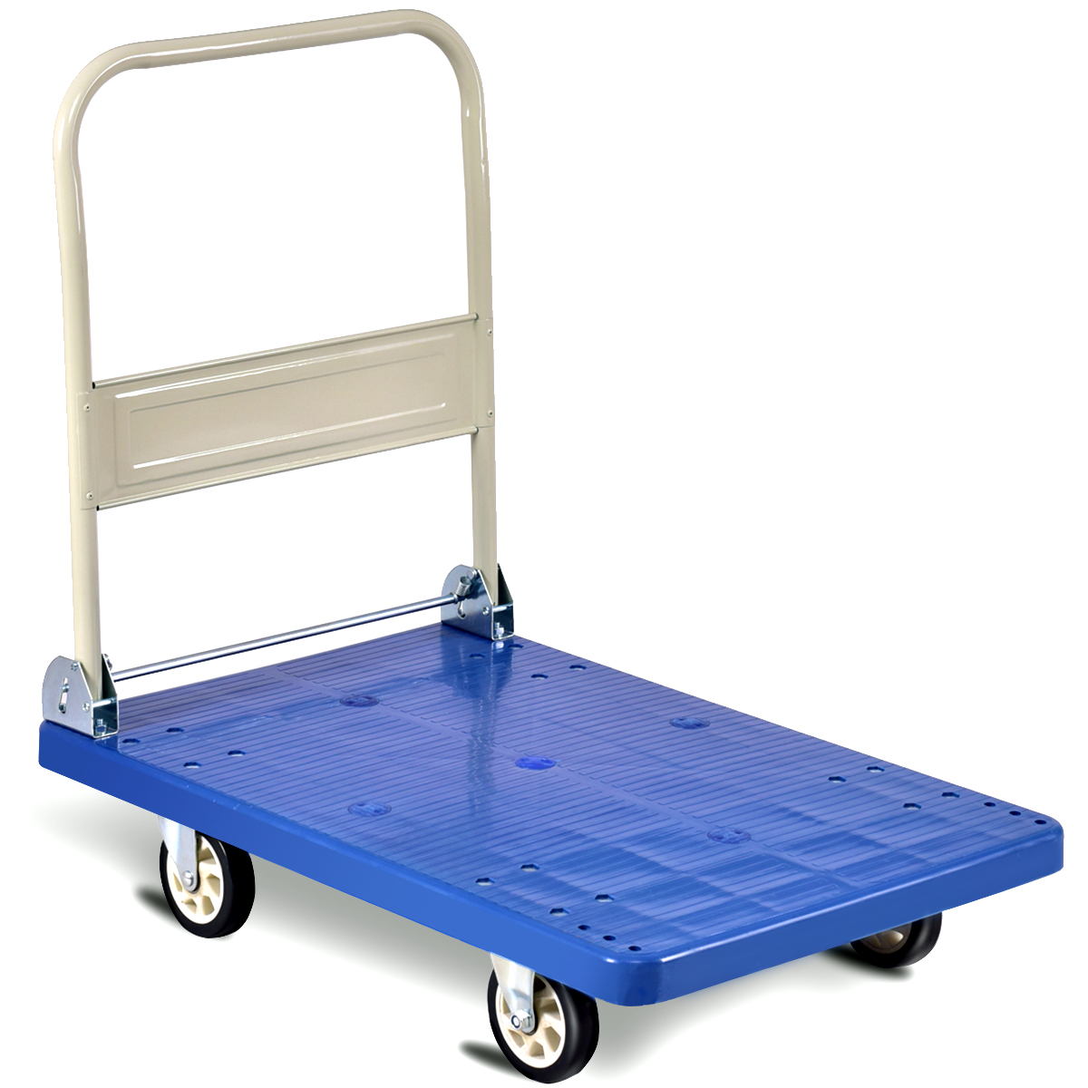 Costway 660lbs Platform Cart Folding Dolly Hand Truck Push Foldable Moving Warehouse by Costway