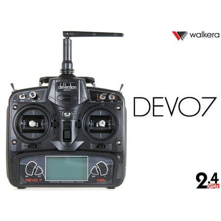 HobbyFlip Walkera Devention Devo 7 Radio Transmitter Remote Devo 7 Transmitter for RC - Futaba Rc Transmitter