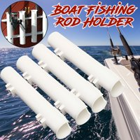 "4Pcs  12"" Boat Fishing Rod Holders Boat Marine Tube Rod Holder Plastic White 300mm*48mm*52mm ABS"