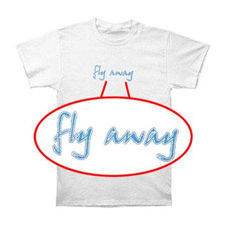 Lenny Kravitz Mens  Fly Away T Shirt White