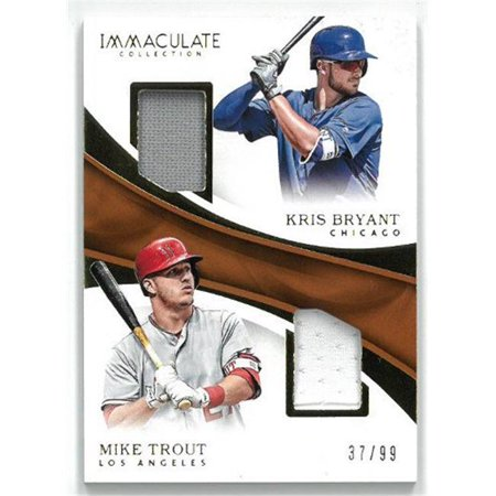 the best attitude 0b84b ace94 Athlon Sports CTBL-023471 Mike Trout & Kris Bryant 2017 Panini Immaculate  Collection Dual Game Used Jersey Baseball Card No. IDP-BT - Limited Edition  ...