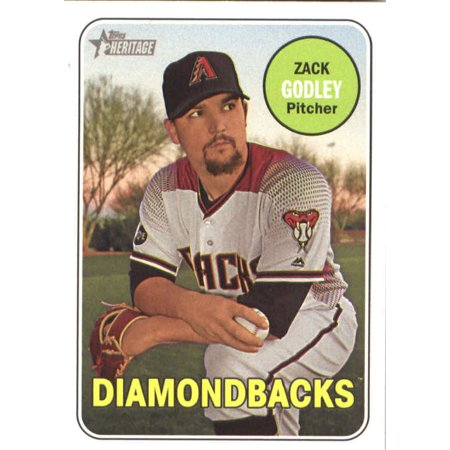 2018 Topps Heritage 334 Zack Godley Arizona Diamondbacks Baseball Card