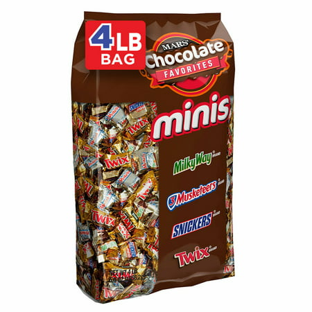 SNICKERS, TWIX, MILKY WAY & More Minis Size Chocolate Candy Bars Variety Mix, 67.2 Ounce, 240 Piece Bag](Mr Bones Halloween Candy)