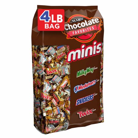 SNICKERS, TWIX, MILKY WAY & More Minis Size Chocolate Candy Bars Variety Mix, 67.2 Ounce, 240 Piece Bag - Halloween Candy Store