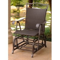 Patio Glider Chair in Chocolate Finish