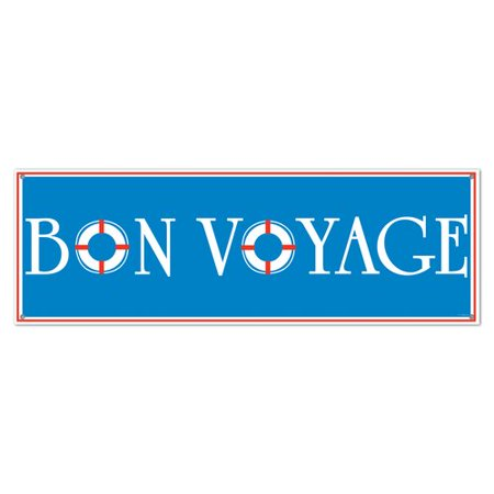 The Beistle Company Bon Voyage Sign Banner Wall D cor - Bon Voyage Decorations