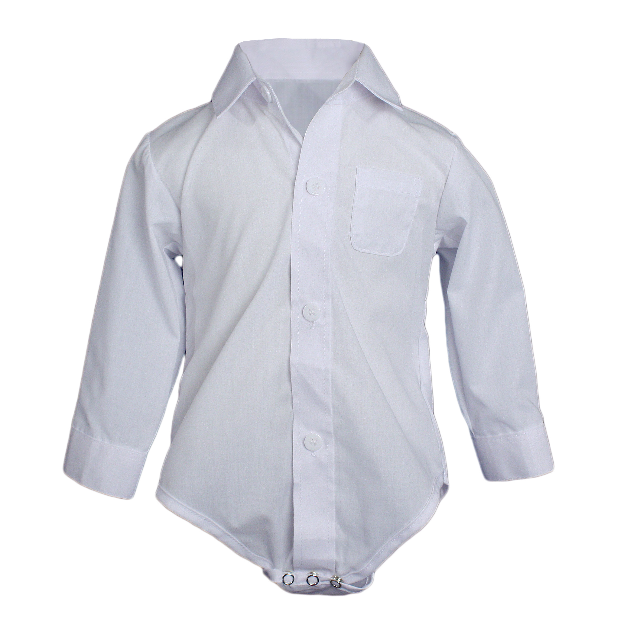 Little Things Mean A Lot Baby Boys Poly Cotton Button Up White