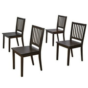 Shaker Dining Chairs, Set of 4, Espresso