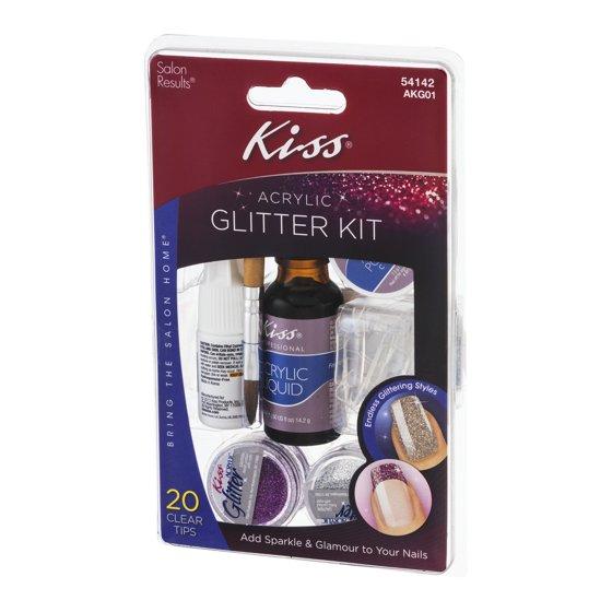 Kiss Acrylic Glitter Kit, 1.0 KIT - Walmart.com