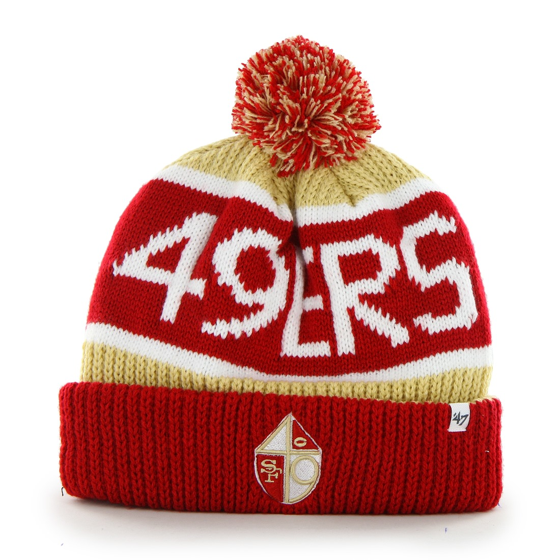 San Francisco 49ers 47 Brand NFL Throwback Calgary Cuffed Knit Hat by 47 Brand