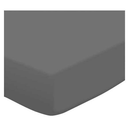 Sheetworld Fitted Pack N Play  Graco Square Playard  Sheet   Dark Grey Jersey Knit