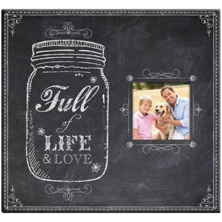 - Full Of Life Mason Jar Post Bound Scrapbook with Window, 12