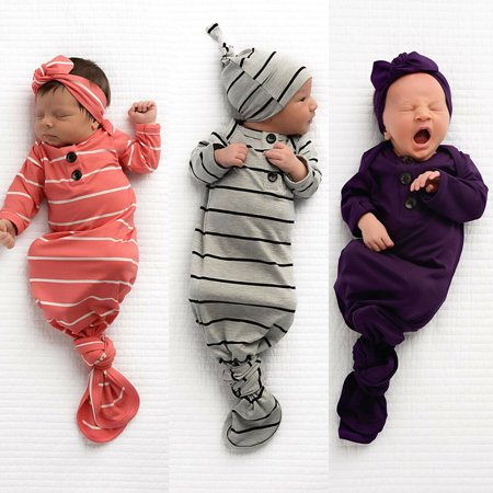 The Noble Collection Newborn Baby Sleeping Bag Sacks Blanket Swaddle Wrap Bedding Clothes Hat - Swaddle Outfit