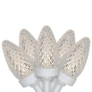 Brite Star 50ct Faceted LED C7 Christmas Lights Warm White - 20.25' White Wire