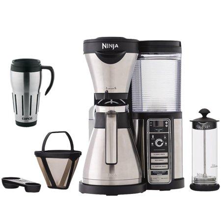Ninja CF086 Coffee Bar Brewer Bundle w/ Thermal Carafe, Milk Frother, and Travel Mug - Walmart.com