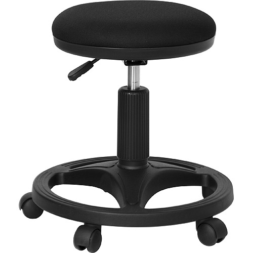 Ergonomic Medical Stool with Foot Ring, Black