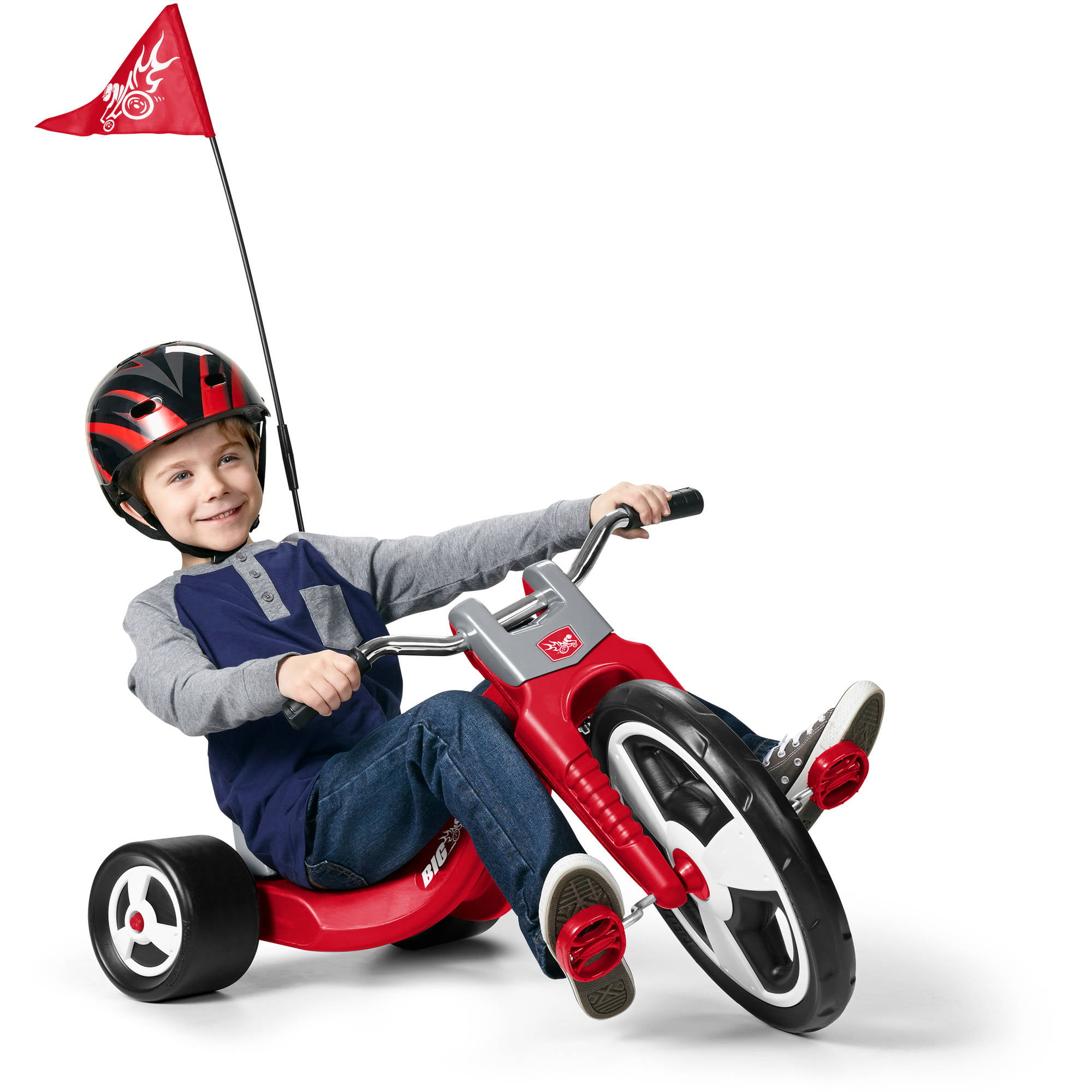 Flyer Big Trike Radio Sport Red Kids Tricycle Chopper Front Wheel