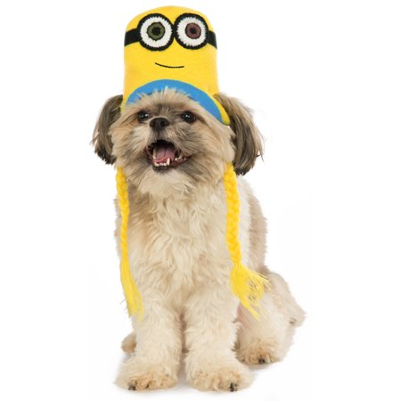 Despicable Me Pet Minion Bob Knit Dog Costume Headpiece Hat Beanie](Minion Pet Costume)