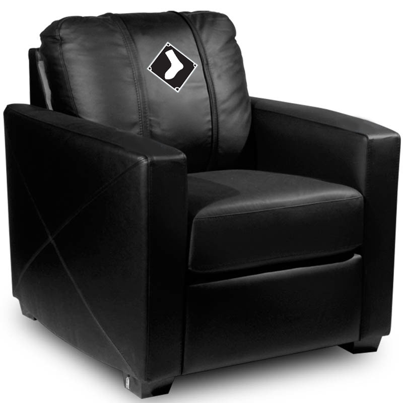 Chicago White Sox MLB Silver Chair with Secondary Logo Panel