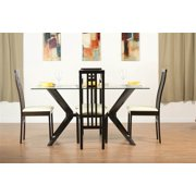 Greenwich Dining Table Set with District-2 Chairs in Coffee