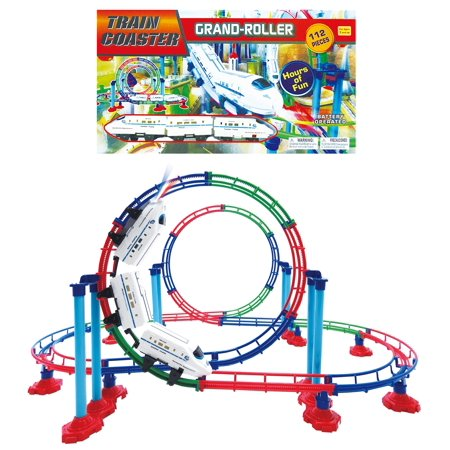 (Mozlly Mozlly Grand Up & Down Roller High Speed Coaster Fast Bullet Train Mini Machine with Light Up Headlight Play Vehicles Building Set Durable Loop Tracks Toy Ideal Gift Toys Games Play-set 15)