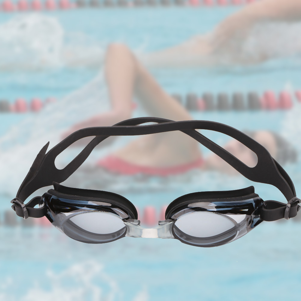 Black Nearsighted Anti-fog Swimming Goggles For Adult and Children With Adjustable Head Strap, swimming goggles,... by