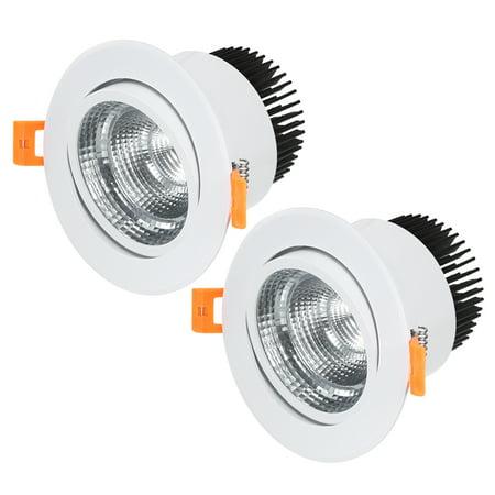 Unique Bargains 2pcs 138mm Dia. 15W COB Downlight Housing Recessed Spotlight Lamp Shell White - image 5 de 5