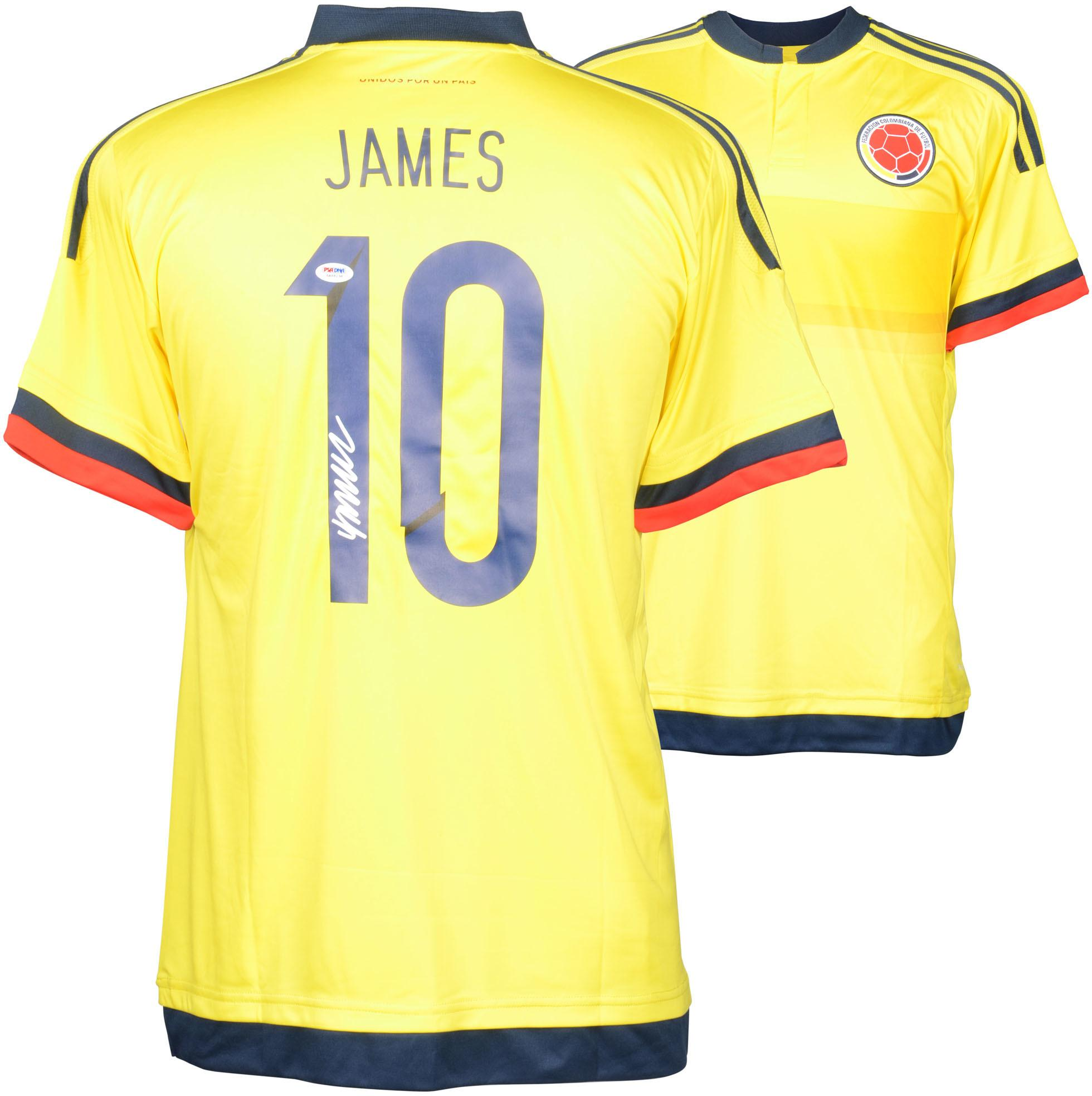 James Rodriguez Colombia Autographed Yellow Jersey - Fanatics Authentic Certified