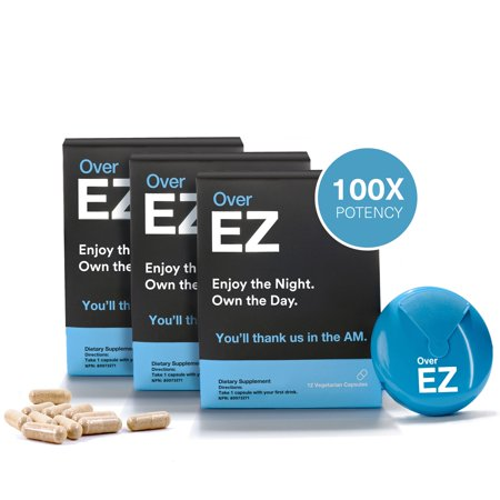Over EZ Liver Detox Pill, Milk Thistle, NAC, N-Acetyl Cysteine, DHM - image 8 of 12