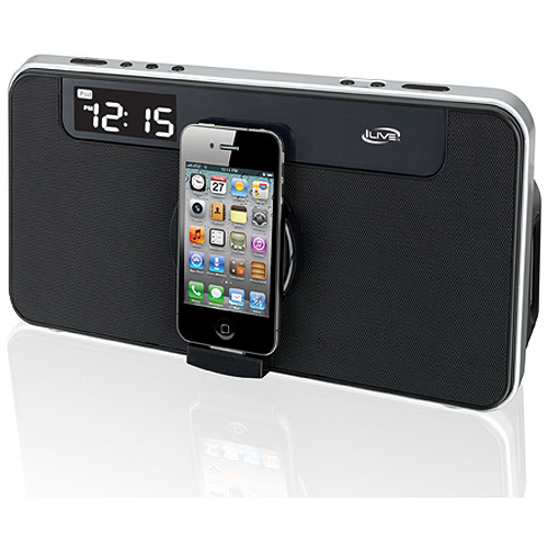 Ilive Isp591B Black iPod Dock Home Music System LCD Display