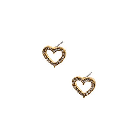 Bridal Earrings Silver Gold Crystal Heart Shpae Stud Earring