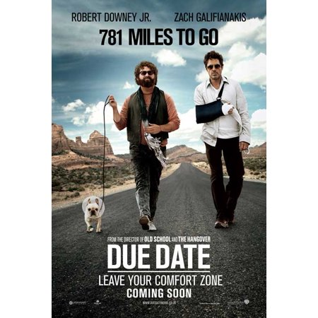Due Date POSTER Movie UK D Mini Promo - Halloween Date Uk