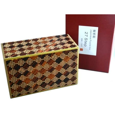 5 Sun 27 Steps Red Ichimatsu - Japanese Puzzle Box ()