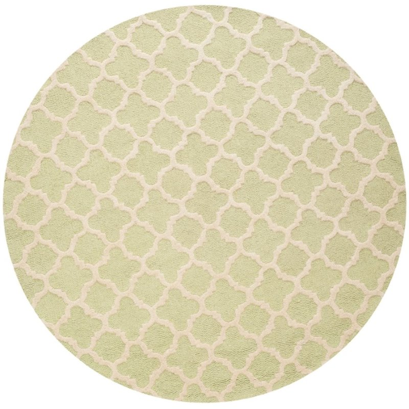 Safavieh Cambridge 6' Round Hand Tufted Wool Rug - image 10 de 10
