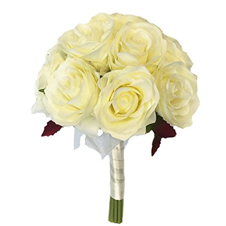 Childrens Ivory Rose (Keepsake Artificial Rose Bouquet /centerpiece/table top flower (Ivory) )