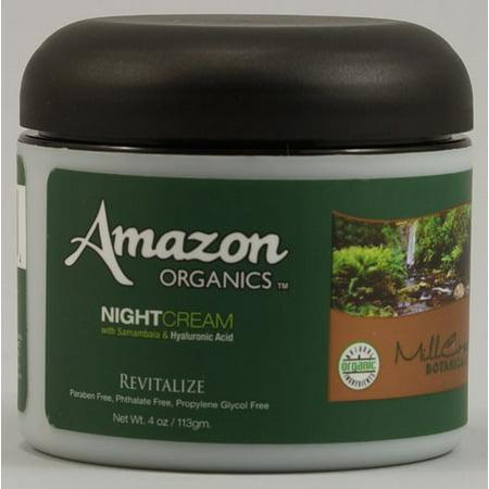 Amazon Organics Night Cream (Amazon Organic Revitalize Night Cream, 4 Oz)