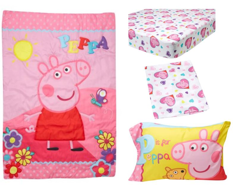 hot sale online 27c83 38bcb Peppa Pig 4-Piece Toddler Bedding Set - Walmart.com