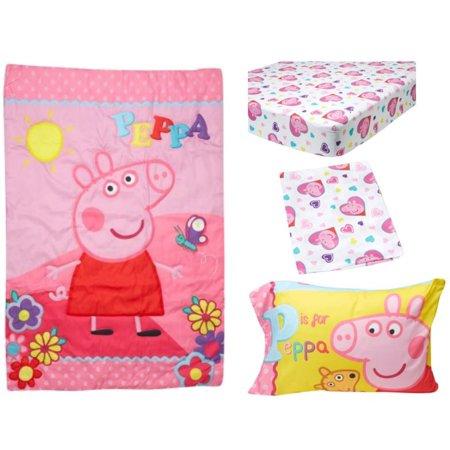 Peppa Pig 4-Piece Toddler Bedding Set