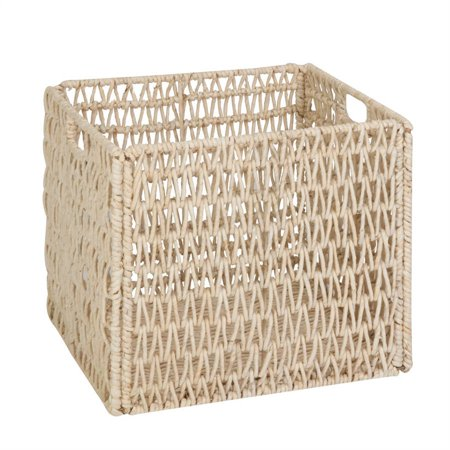 Honey Can Do Folding Woven Seagrass Basket, Off-White