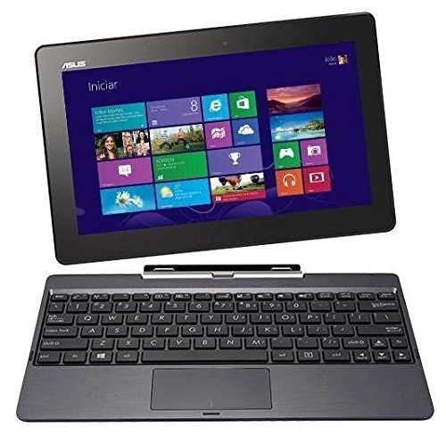 Refurbished Asus Transformer Book 10.1-inch 32GB Detachable 2-in-1 Touch Laptop/Tablet T100TA 2GB RAM With Keyboard Dock - Grey