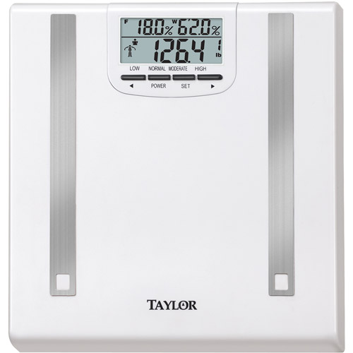Taylor 5768BF Body Fat and Body Water Bath Scale, White