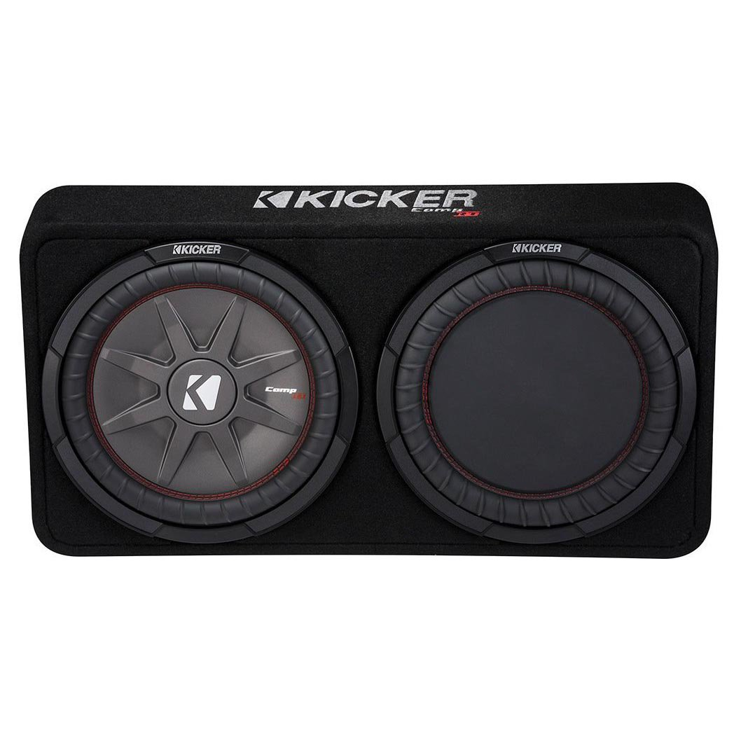 "Kicker 1000W Dual 12"" 2-Ohm Slim Shallow Subwoofer Sealed Enclosure 