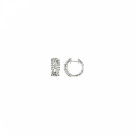 Diamond Earrings 68110 / 14Kt White / Pair 1 3/8 Ct Tw / Polished / Diamond Earrings
