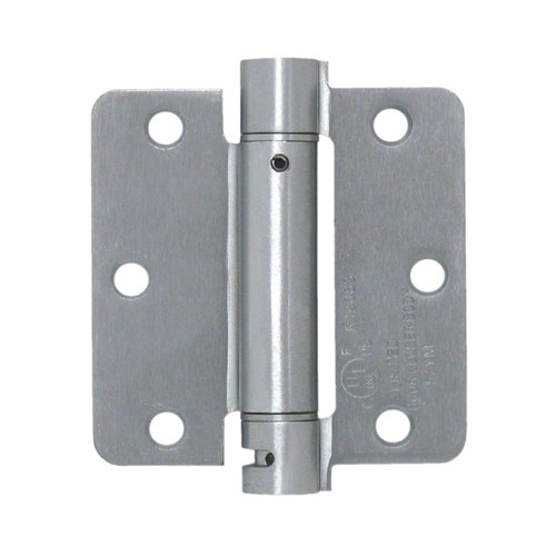 Deltana 3.5'' H x 3.5'' W Steel Single Spring Door Hinge