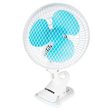VIVOSUN 6 inches Portable Desk Clip On Fan for Home and Grow Tent Room, 2-Speed, Adjustable Tilt, Whisper Quiet Operation (Portable Room Fans)