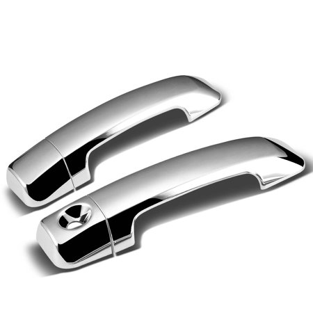 For 07-15 Toyota Tundra 2DR 2pcs Exterior Door Handle Cover without Passenger Keyhole (Chrome) 08 09 10 11 12 13 14 08 Chrome Door Pillars Posts