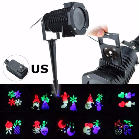 Image of 10 Pattern Laser Projector Light Halloween Xmas Party Outdoor Garden Landscape